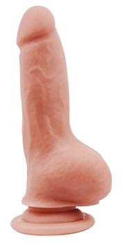 Телесный фаллоимитатор на присоске Covetous Monster - 20 см.