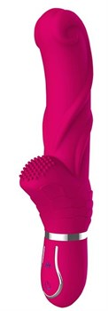 Ярко-розовый вибратор 10-SPEED PINK PERFECTION - 22 см.