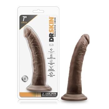 Коричневый фаллоимитатор 7 Inch Cock With Suction Cup - 19 см.
