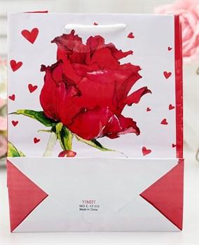 Подарочный пакет  Love  - 15 х 12 см.