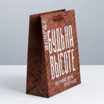 Подарочный пакет  Не чувствуй преград  - 30 х 26 см.