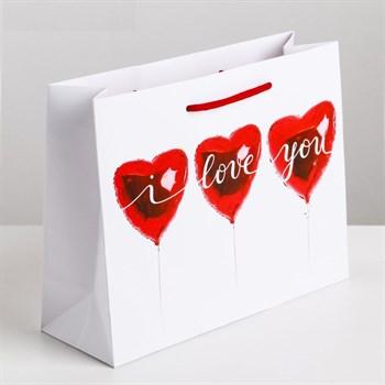 Подарочный пакет  Любовь повсюду  - 12 х 15 см.