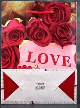 Подарочный пакет Love - 23 х 18 см.
