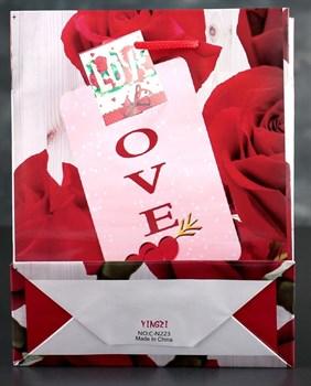 Подарочный пакет  Любовь  - 23 х 18 см.