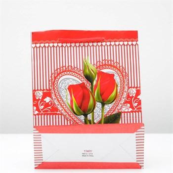 Подарочный пакет  От всего сердца  - 23 х 18 см.