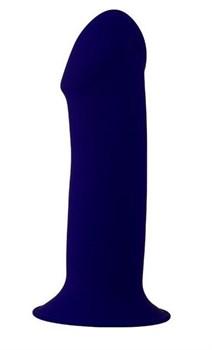 Синий фаллоимитатор-реалистик PREMIUM THICK DILDO 7INCH - 18 см.