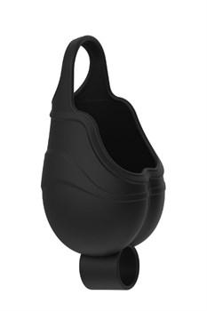 Черный подхват для мошонки с вибрацией VIBRATING SCROTUM TEASER