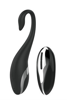 Черное виброяйцо NAGHI NO.36 RECHARGEABLE REMOTE EGG