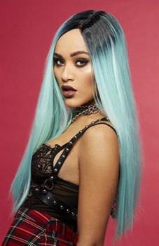 Нежно-голубой парик  Морская нимфа