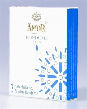 Супертонкие презервативы AMOR Thin - 3 шт.