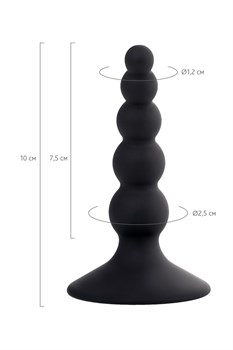 Черная анальная втулка Bootes - 10 см.