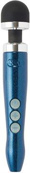 Синий беспроводной вибратор Doxy Die Cast 3R Rechargeable Wand - 28 см.