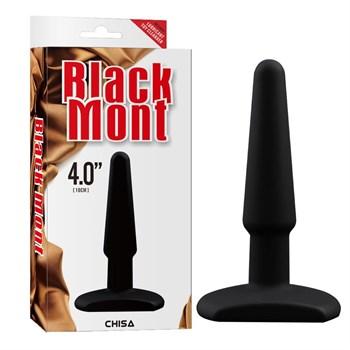 Черная анальная втулка Silicone Butt Plug 4  - 11 см.