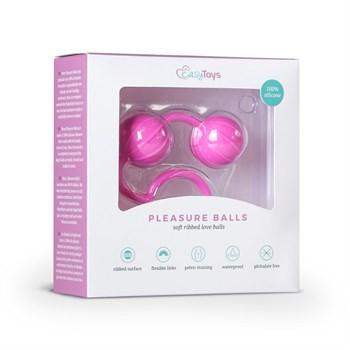 Розовые вагинальные шарики с ребрышками Roze Love Balls