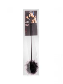 Черный пуховый тиклер Nightfall - 41 см.