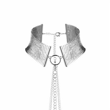 Серебристый ошейник с цепочками Desir Metallique Collar