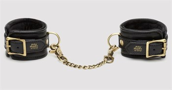Черные наручники Bound to You Faux Leather Wrist Cuffs