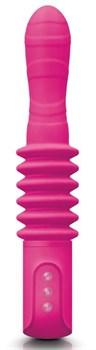 Розовый вибромассажер с функцией поступательных движений Deep Stroker - 24,5 см.