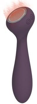 Фиолетовый вибратор с функцией нагрева PANACEA - 17,4 см.