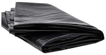 Черная виниловая простынь - 217 х 200 см.