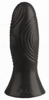 Черная анальная втулка с рельефом - 17 см.