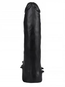 Черная насадка HARNESS для трусиков с плугом №10 - 17 см.