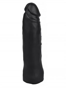 Черная насадка HARNESS для трусиков с плугом №3 - 17 см.