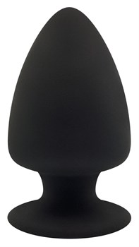 Черная анальная втулка Premium Silicone Plug M - 11 см.