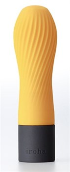 Оранжевый рифленый мини-вибратор IROHA ZEN YUZUCHA - 12,7 см.