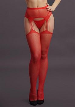 Пикантные чулки Suspender Rhinestone Pantyhose