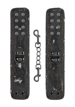 Черные джинсовые наручники Roughend Denim Style