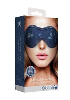Синяя джинсовая маска на глаза Roughend Denim Style