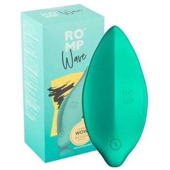 Зеленый клиторальный стимулятор Romp Wave