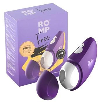 Фиолетовый клиторальный стимулятор Romp Free