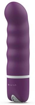 Фиолетовый мини-вибратор Bdesired Deluxe Pearl - 15,3 см.