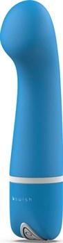 Голубой G-вибростимулятор Bdesired Deluxe Curve - 15,2 см.