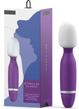 Фиолетовый жезловый вибростимулятор Bthrilled Classic - 20 см.