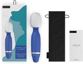 Синий жезловый вибростимулятор Bthrilled Classic - 20 см.