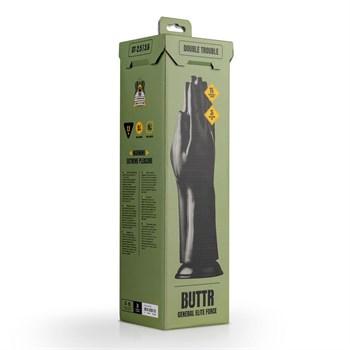 Черный стимулятор Double Trouble Fisting Dildo - 30,7 см.