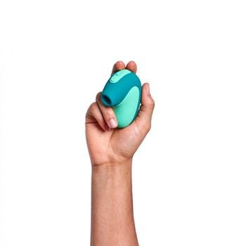 Бирюзовый вакуумный клиторальный стимулятор Unbound Puff