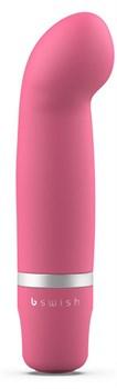 Розовый мини-вибратор Bcute Classic Curve - 10 см.