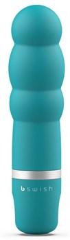 Бирюзовый рельефный мини-вибратор Bcute Classic Pearl - 10 см.