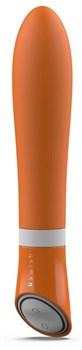 Оранжевый вибратор Bgood Deluxe - 18 см.