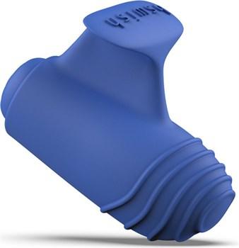 Синий вибростимулятор на пальчик Bteased Basic Finger Vibrator
