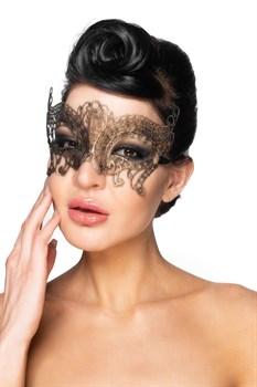Золотистая карнавальная маска  Альджеба