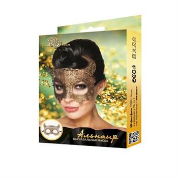 Золотистая карнавальная маска  Альнаир