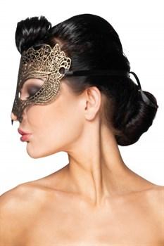 Золотистая карнавальная маска  Мира