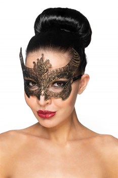 Золотистая карнавальная маска  Нунки