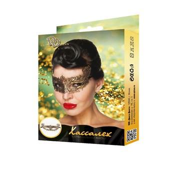Золотистая карнавальная маска  Хассалех