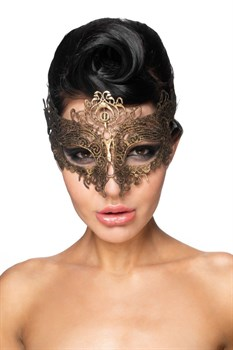 Золотистая карнавальная маска  Шедди
